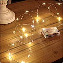 Sanniu Led String Lights, Mini Battery Powered Copper Wire Starry Fairy Lights, Battery Operated Lights for Bedroom, Chris...