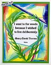 I went to the woods 8x11 Henry David Thoreau poster - Heartful Art by Raphaella Vaisseau
