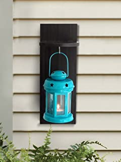 Tied Ribbons Outdoor Decorative Items Hangings Lantern Antique With Wooden Shelve