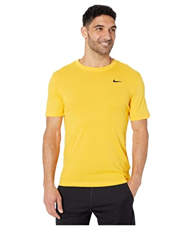 Nike Dry Tee Dri-FITtm Cotton Crew Solid (University Gold/Black) Men