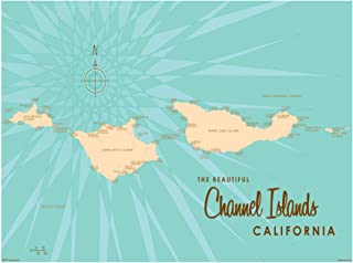 Channel Islands California Vintage-Style Map Art Print Poster by Lakebound (9