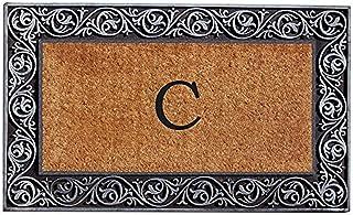Home & More 10002SILVC Prestige Silver Monogram Doormat (Letter C)