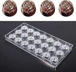 Etern Moule Transparent à Chocolat, Moule à Bonbons en Plastique Transparent, pour Faire des Bonbons Sphériques, du Chocol...