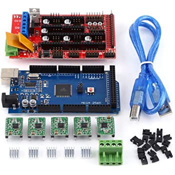 RAMPS 1.4 Regulador + MEGA2560 R3 Tablero + 5pcs Soldered A4988 ...