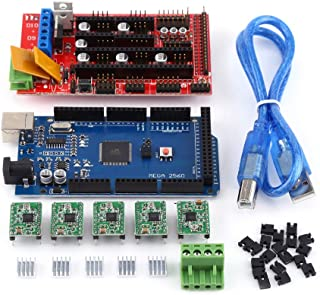 3D Printer RAMPS 1.4 Controller + MEGA2560 R3 + A4988 With Heat Sink USB Calbe Jumper Kit