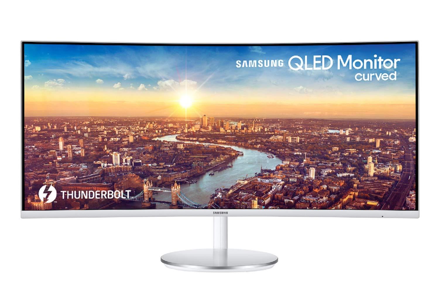 "Samsung C9J9WTU 9"" UltraWide Quad HD QLED Curved Grey Computer Monitor"