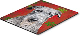 Caroline's Treasures Scottish Deerhound Red Snowflakes Holiday Mouse Pad/Hot Pad/Trivet (SC9754MP)