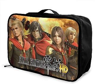 Cool Final Fantasy Type 零式 ファッションメンズ Luggage Bag 旅行収納袋男の女短い出張観光スーツケース大容量レディースヨガ運動軽くアウトドアヘルスバッグ用品海外便利収納箱を整理する