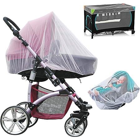 Nepak 3er Pack Universal Mückennetz Insektenschutz Für Kinderwagen Buggy Schutz Vor Moskito Insekt Weiß Baby