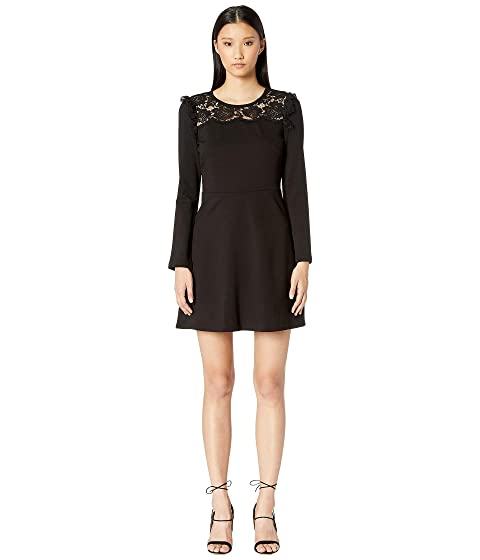 Kate Spade New York Broome Street Lace Yoke Ponte Dress