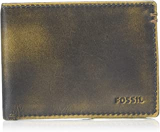 Fossil Men's Derrick Leather Front Pocket Bifold Wallet