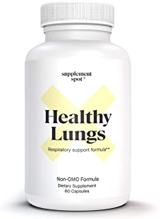Supplement Spot Healthy Lungs - Supports Respiratory Health: Detox & Lung Cleanse (60 Capsules)