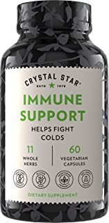 Crystal Star Immune Support Supplement (60 Capsules) - Herbal Immune Booster for a Proactive Multi-System Defense - Echina...