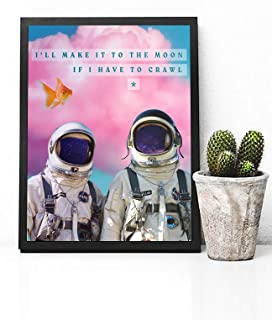 Red Hot Chili Peppers Poster Print - Red Hot Chili Peppers Decor - Trippy Astronaut Poster - Pastel Retro Decor - Red Hot Chili Peppers Song Lyrics Poster - Dorm Decor - Trippy Room Decor