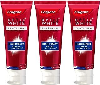 Colgate Optic White High Impact White Whitening Toothpaste, 3 oz, 3 Pack
