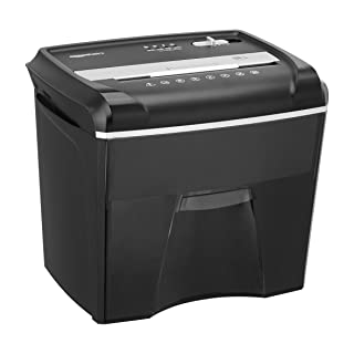 AmazonBasics 12-Sheet Cross-Cut Paper, Junk Mail, CD, and Credit Card Shredder with Pullout Basket