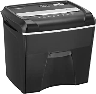 Amazon Basics 12-Sheet Cross-Cut Paper, Junk Mail, CD, and Credit Card Shredder with Pullout Basket