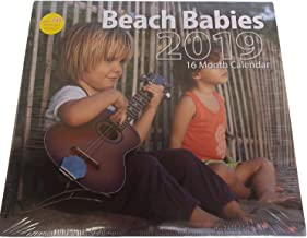 2019 16 Month Wall Calendar with 240 Reminder Stickers (Many Styles to Choose) (2019 Beach Babies)
