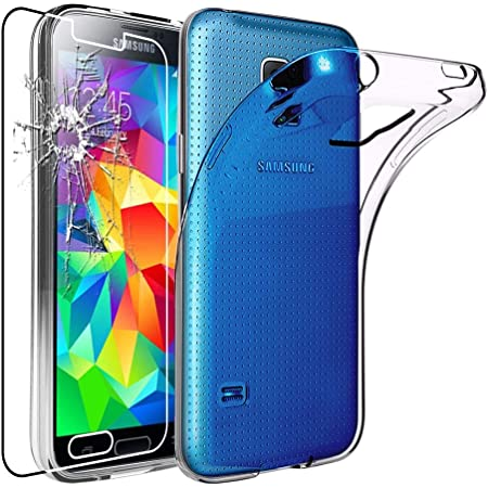 ebestStar - Coque Compatible avec Samsung S5 G900F, Galaxy S5 New G903F Neo Etui Housse Silicone Gel Anti-Choc Ultra Fine Invisible, Transparent ...
