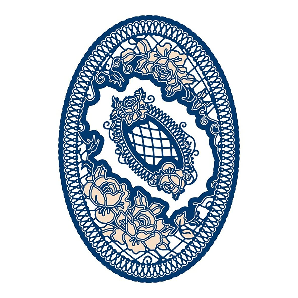 Tattered Lace Woodside Bloom Oval Cutting Die, Silver TLD0629