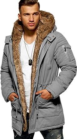 Rello /& Reese Parka dhiver Imitation Fourrure Homme E-7250