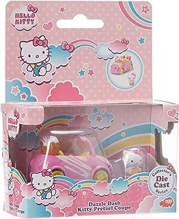 Simba Voiture Bretzel Dickie Coche Pretzel de Metal, Longitud 6cm, Incluye 1 Figura extraíble de Hello Kitty, Para Niños a...