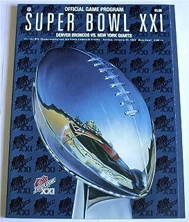 Super Bowl XXI Denver Broncos vs. New York Giants: Official Game Program
