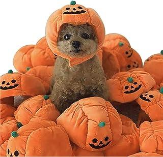 [US Stock] Pet Halloween Thankgiving Costume, 1 Pcs Pet Dog/Cat Pumpkin Headgear Plush Hat, Pet Fancy Party Dress Up Headd...