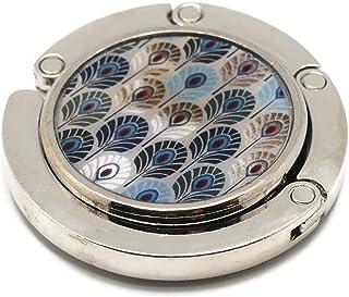Borsetta appendiabiti resina piuma art deco fan Giappone metallo 4,5 cm regali personalizzati regalo di natale amici compl...