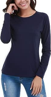 FISOUL Womens Long Sleeve T-Shirt Crew Neck Casual Basic Tee Tops