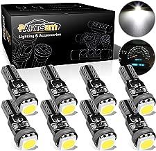 Partsam T5 73 74 Speedometer Indicator LED Light Kit Instrument Panel Gauge Cluster Dashboard LED Light Bulbs - No Polarity/White 8Pcs