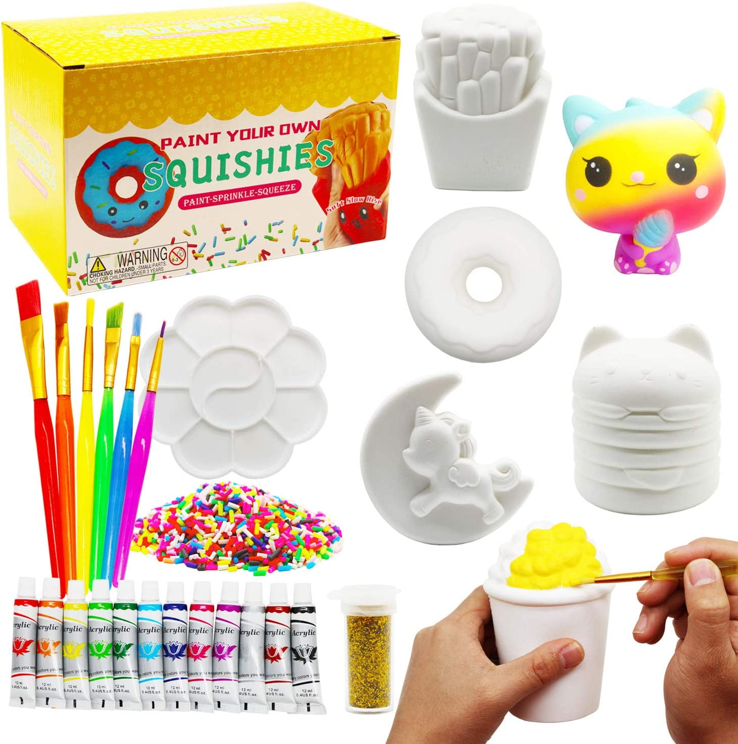 Korilave Squishies DIY Art Crafts Directly managed Topics on TV store Dessert Kits Gift for Girls P