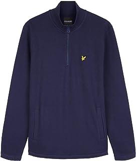 Lyle and Scott Mens 1/4 Zip piqué Sweatshirt - Cotton