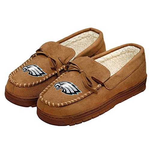 92db59e5c23 Forever Collectibles NFL Football Mens Team Logo Moccasin Slippers Shoe -  Pick Team