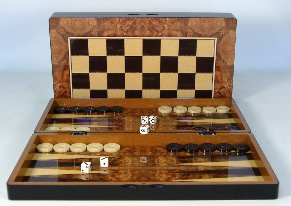 Regular discount Max 79% OFF Backgammon Set - Burlwood Decoupage
