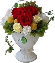 バラ プリザーブドフラワー 母の月 花 プレゼント 高級 お祝い 誕生日 ギフト(赤系Lサイズ)