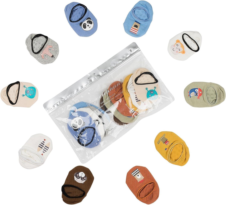 MBLC Kids Socks, Non-Skid Non-Slip Comfortable Cotton Baby Socks (0-1Year, Colorful 10pack)