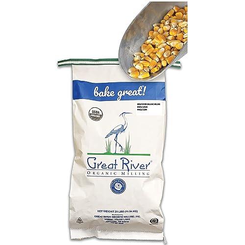 GREAT RIVER ORGANIC MILLING - Organic Whole Grain Corn, 25 lb. Bag (Pack of 1)