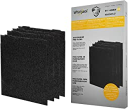 Whirlpool 8171434KS Genuine Charcoal Pre-Filter - Whishield Anti-Microbial Activated - Replacement Fit Air Purifier AP51030K, AP45030K, APR45130L WP500, Large - 4 Pack