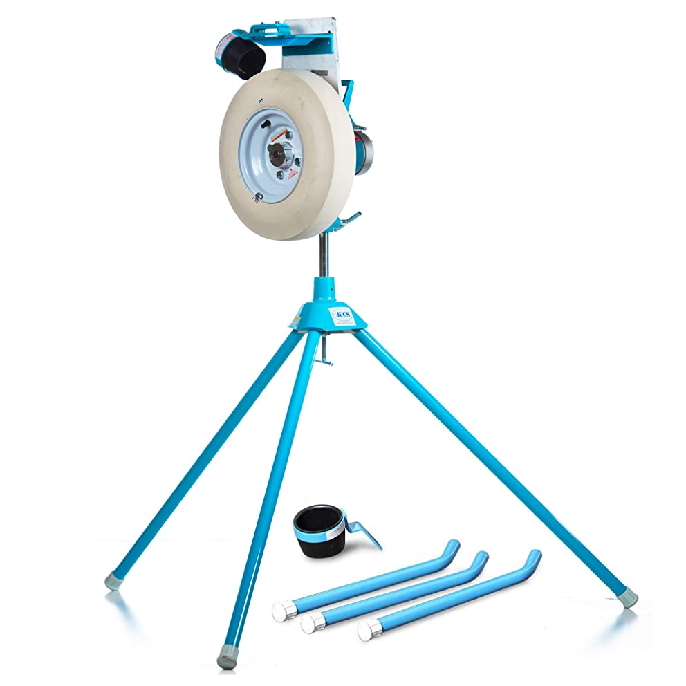 Jugs Jr. EX Baseball/Softball Pitching Machine — The Most Durable Pitching Machine Ever Made. New 7 Year Guarantee. Perfect for Youth Leagues, backyards and Travel-Ball Teams.