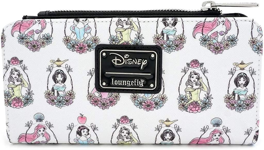 Ranking integrated 1st place Loungefly x Disney Princess Award-winning store Portraits Allover-Print Wallet