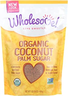 Wholesome Sweeteners Organic Coconut Palm Sugar, 16 Ounce -- 6 per case.