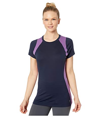 Smartwool Merino 150 Base Layer Color Block Short Sleeve (Deep Navy) Women