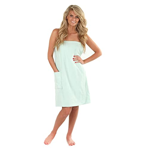 9ed74a72bf VEAMI Women's Spa Wrap Towel with Snap Closure