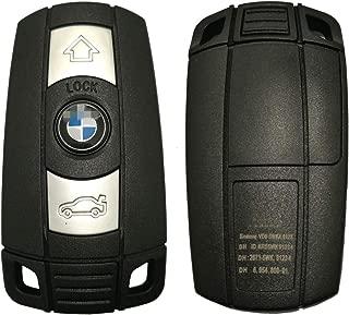 Horande Keyless Entry Transponder Chip Key Smart Remote Control Key Fit BMW 3 5 Series X5 X6 Z4 Key Fob (Black 315mhz)