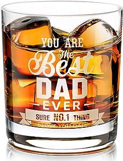 Cadeaux pour Papa Verre à Whisky, Verre à Whisky Gravé Personnalisé cadeau pour la fête des Pères, Anniversaire pour Homm...