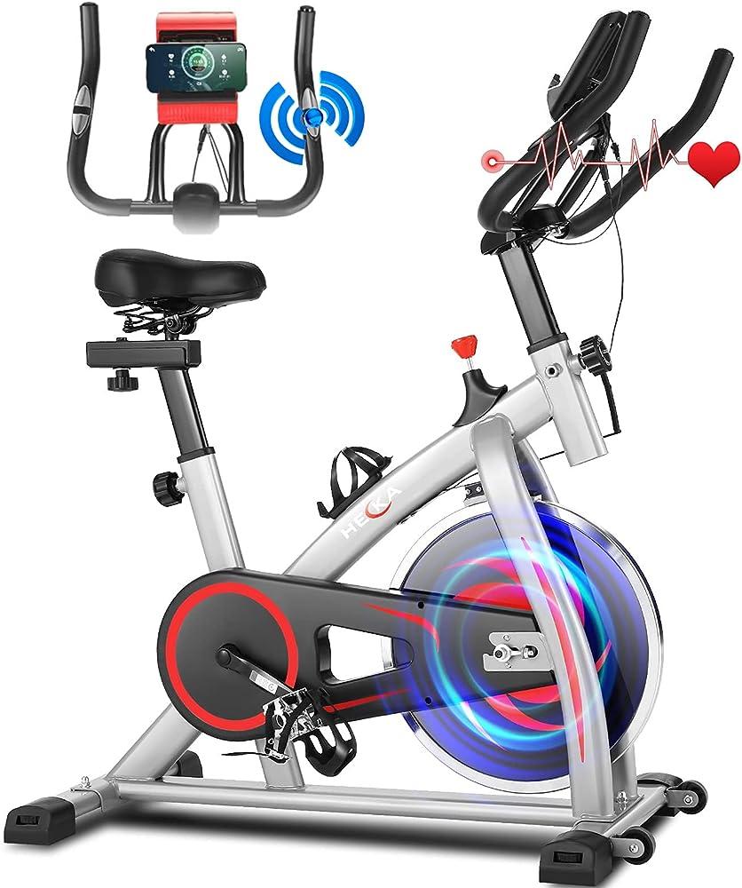 Heka cyclette professionale, resistenza regolabile con display lcd e app