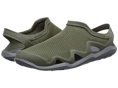 Crocs Swiftwater Mesh Wave (Army Green/Slate Grey) Men