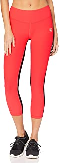 ARENA Gym Women's Sports 3/4 Tights, Womens, Tights, 001618, Fluo red-Black