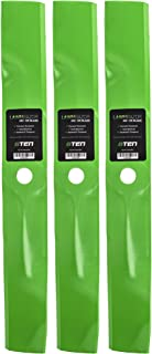 8TEN LawnRAZOR Mower Blade for John Deere 345 325 335 Scotts GT2554 S2554 M135590 M76467 M115496 54 Inch Hi-Lift 3 Pack